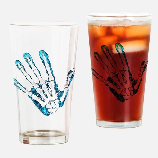 Blue Hand Drinking Glass