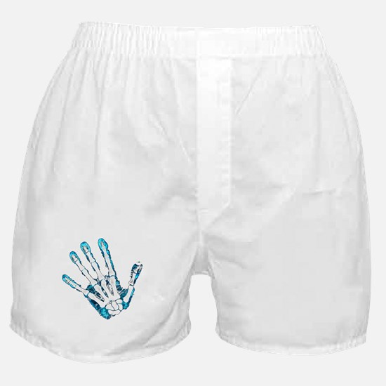 Blue Hand Boxer Shorts