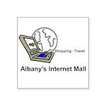 Albany's Internet Mall Sticker (square 10 Pk)