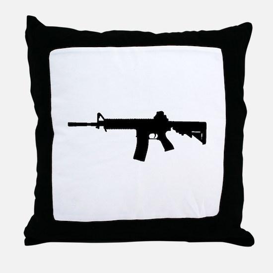 Cute Rifle Throw Pillow