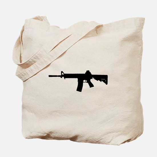 Cute Assault rifle Tote Bag