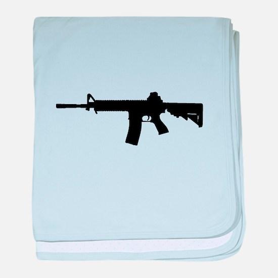 Funny Firearms baby blanket