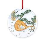 Snow Dragon II Ornament (Round)