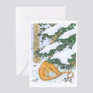 Snow Dragon II Greeting Card