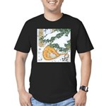 Snow Dragon II Men's Fitted T-Shirt (dark)