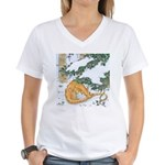 Snow Dragon II Women's V-Neck T-Shirt