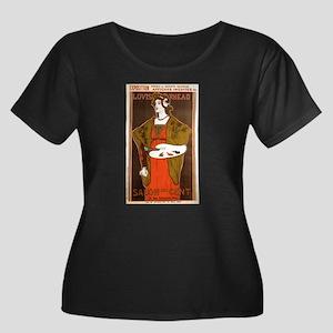 Salon Art Nouveau Women's Plus Size Scoop Neck Dar
