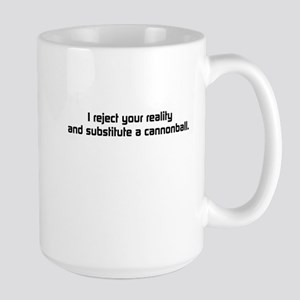 Cannonball Accident Large Mug