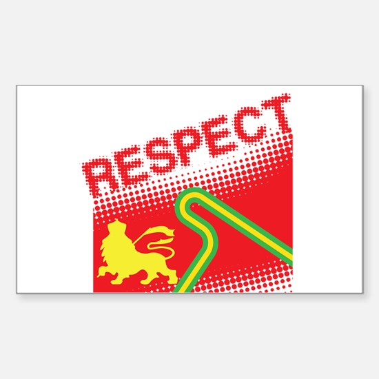 RESPECT Sticker (Rectangle)