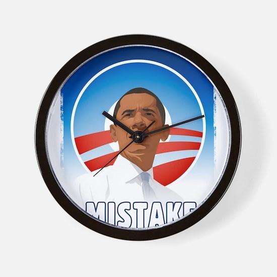 Obama - Mistake Wall Clock