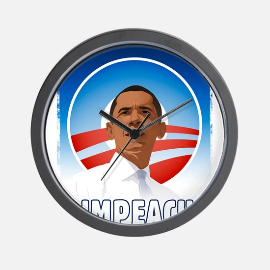Funny Impeach obama Wall Clock