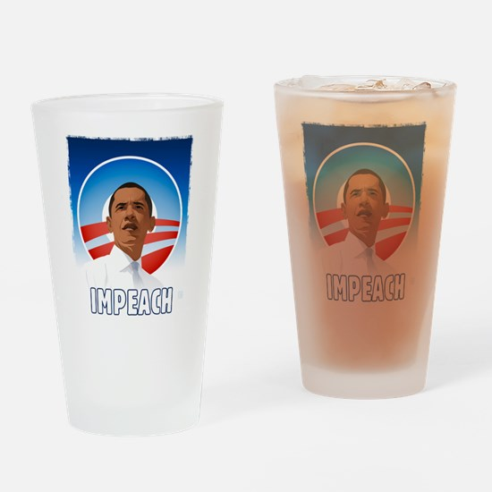 Funny Impeach obama Drinking Glass
