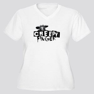 Creepy Finger Women's Plus Size V-Neck T-Shirt