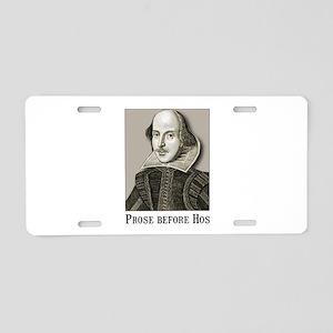 Shakespeare Hos Aluminum License Plate