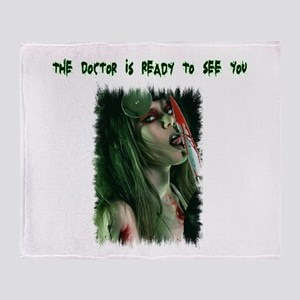 The Doctor Is Ready Throw Blanket