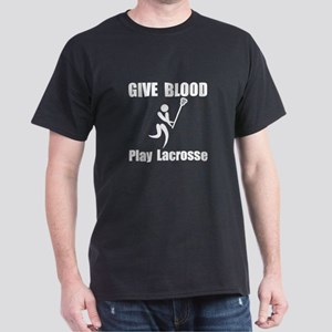 Lacrosse Give Blood Dark T-Shirt