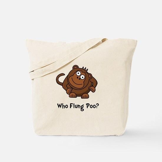 Monkey Flung Poo Tote Bag
