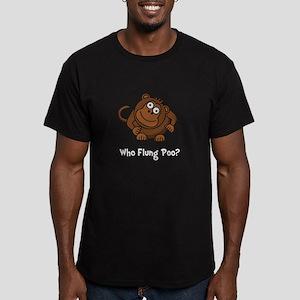 Monkey Flung Poo Men's Fitted T-Shirt (dark)
