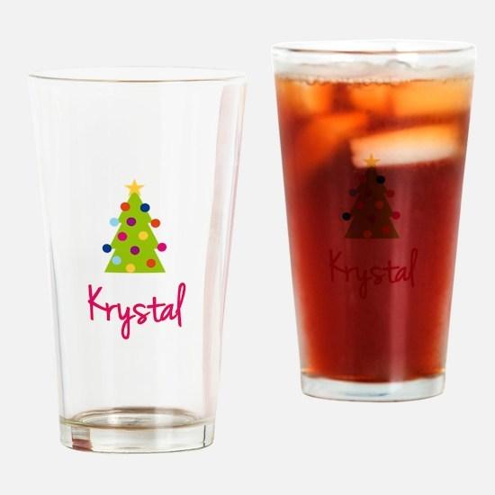 Christmas Tree Krystal Drinking Glass