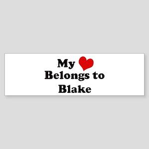 My Heart: Blake Bumper Sticker