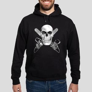 Skull and Chainsaws Hoodie (dark)