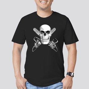 Skull and Chainsaws Men's Fitted T-Shirt (dark)