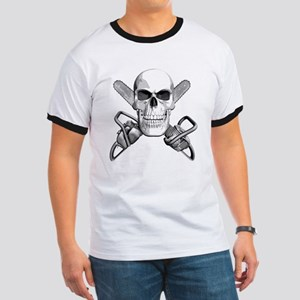 Skull and Chainsaws Ringer T