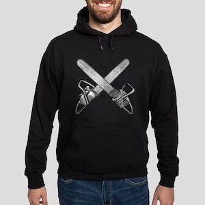 Crossed Chainsaws Hoodie (dark)