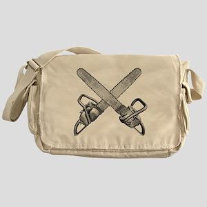 Crossed Chainsaws Messenger Bag