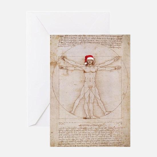 Vitruvian Claus Greeting Card