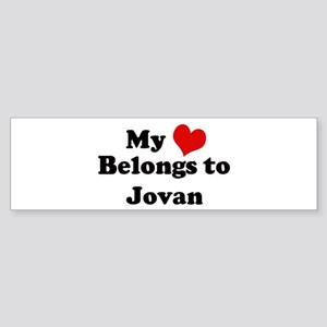 My Heart: Jovan Bumper Sticker