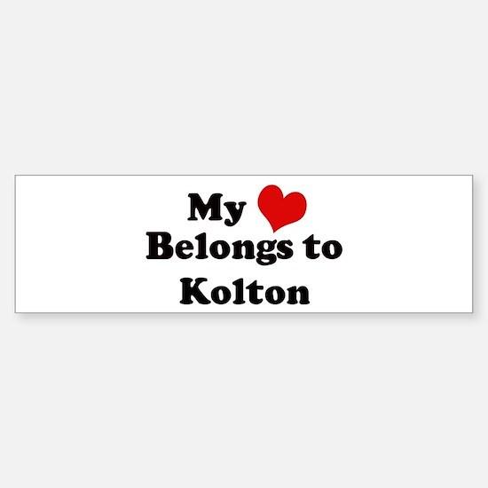 My Heart: Kolton Bumper Bumper Bumper Sticker