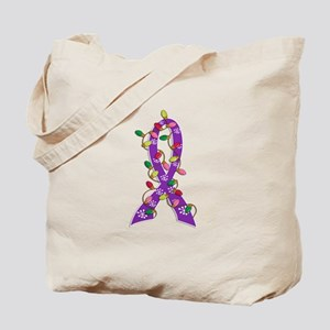Christmas Lights Ribbon Alzheimers Tote Bag