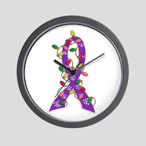 Christmas Lights Ribbon Alzheimers Wall Clock