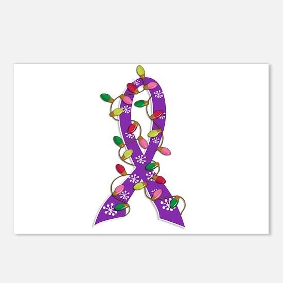 Christmas Lights Ribbon Alzheimers Postcards (Pack