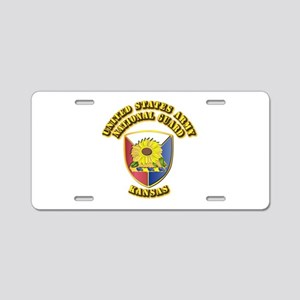 Army National Guard - Kansas Aluminum License Plat