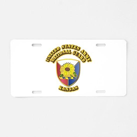 Army National Guard - Kansas Aluminum License Plat