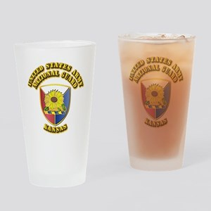 Army National Guard - Kansas Drinking Glass