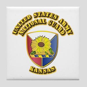Army National Guard - Kansas Tile Coaster