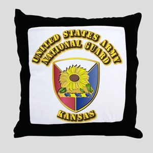 Army National Guard - Kansas Throw Pillow