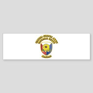 Army National Guard - Kansas Sticker (Bumper)