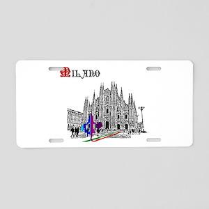 Milano Milan Italy Aluminum License Plate