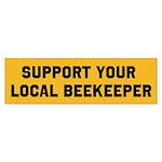 Support Your Local Beekeeper Sticker (Bumper)