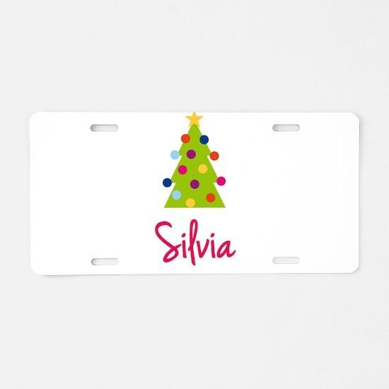 Christmas Tree Silvia Aluminum License Plate