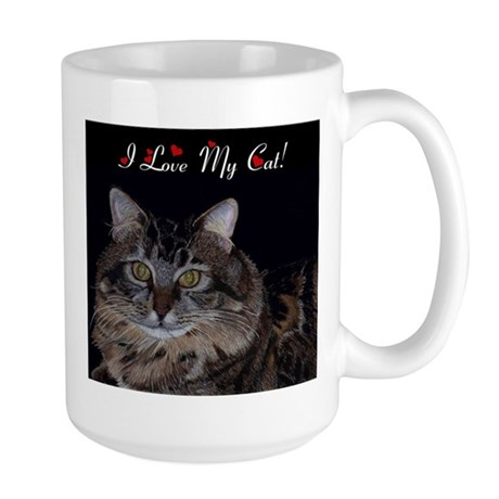 I Love My Cat! Large Mug