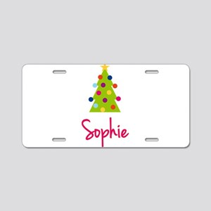Christmas Tree Sophie Aluminum License Plate