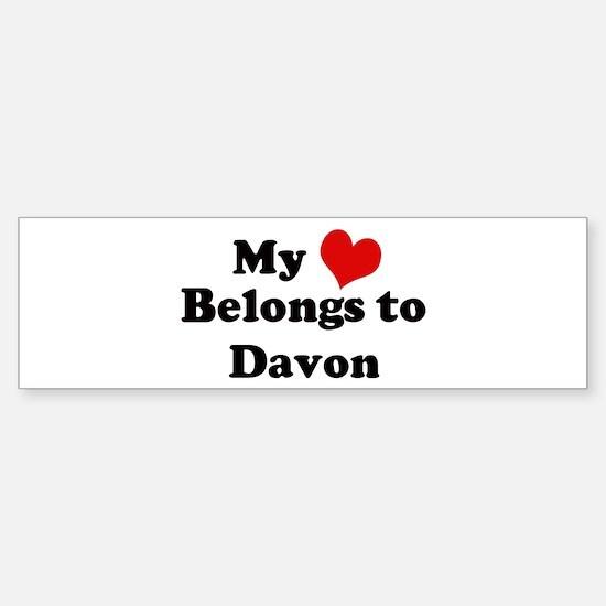 My Heart: Davon Bumper Bumper Bumper Sticker