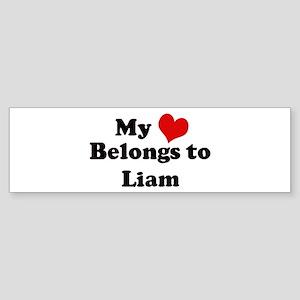 My Heart: Liam Bumper Sticker