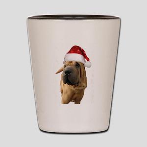 Christmas Shar Pei dog Shot Glass