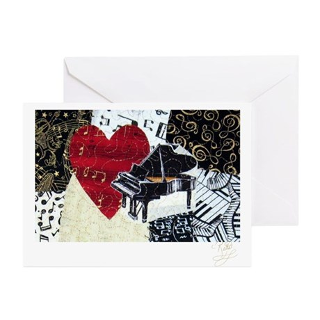 Piano Greeting Cards (Pk of 10)